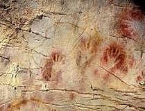 Se encuentran pinturas rupestres