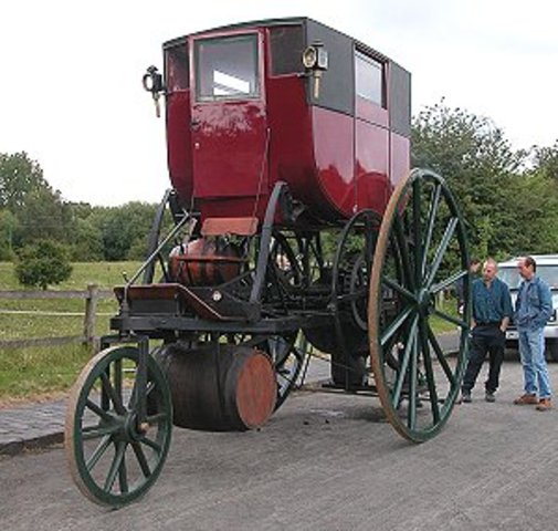 """Richard Trevithick makes first steam engine """"car"""""""