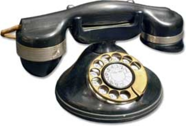Round Base Rotary Dial Monophone