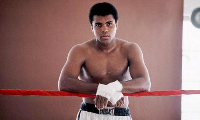 Muhammad Ali wins the first pro match