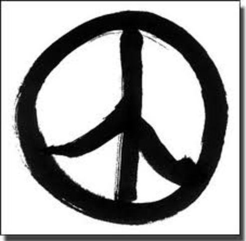 The peace symbol was created