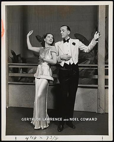 Noel Coward and Gertrude Lawrence.