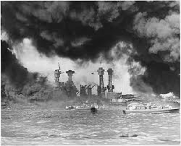 Japanese attack Pearl Harbor.