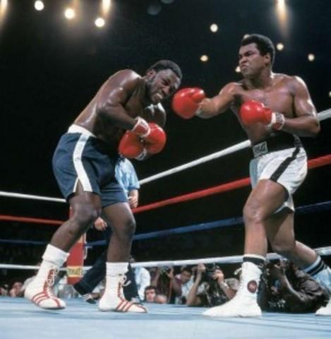 """Thrilla in Manila"" third match between Muhammad Ali and Joe Frazier"