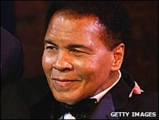 Muhammad Ali is diagnosed with Parkinson's Syndrome