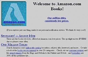 How old is amazon? Well...