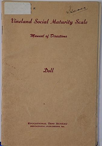 Se publica la primera escala de medida del desarrollo social, la Vineland Social Maturity Scale de Doll.