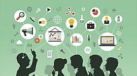Evolução da Tecnologia na Educação timeline