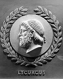 Leyes de Licurgo, rey de Esparta.  600 aC.