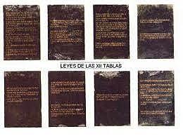 Ley de las Doce Tablas.  450 aC.