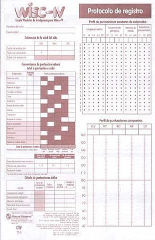 Escala Wechsler de Inteligencia para Niños (WISC).