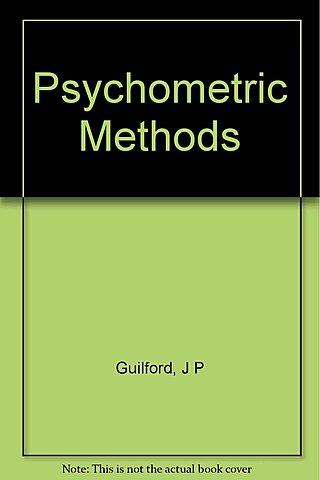 Primera edición del manual Psychometric methods de Guilford.