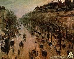 Boulevard Montmartre, una mañana de invierno