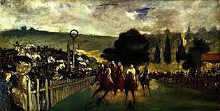 Carrera de caballos en Longchamp