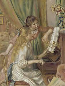 Jóvenes tocando el piano