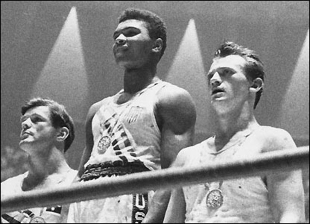 Cassius Clay wins the Olympic gold medal