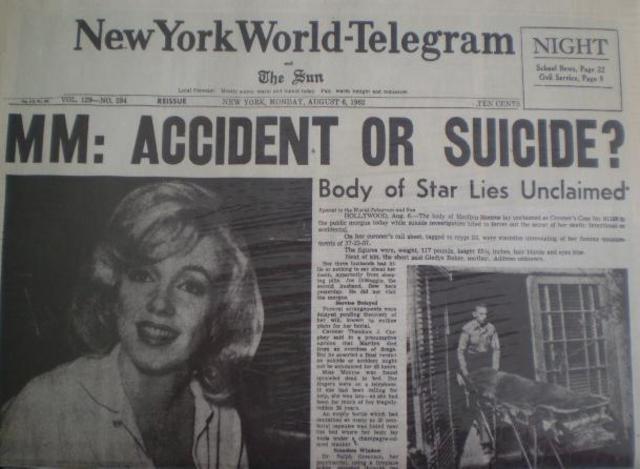 Maryline monroe found dead!