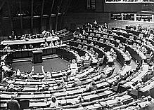 First election of the European parliament with universal suffrage