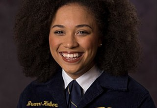 Breanna Holbert from California is the first African-American female to be elected national FFA president.