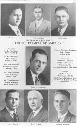 1928 Future Farmers of America is established in Kansas City, Mo.