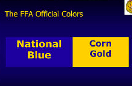 1929 National blue and corn gold are adopted as official FFA colors.