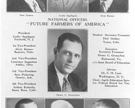 1928- FFA is established in Kansas City MO.