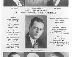 1928 - Future Farmers of America is established in Kansas City, Mo.