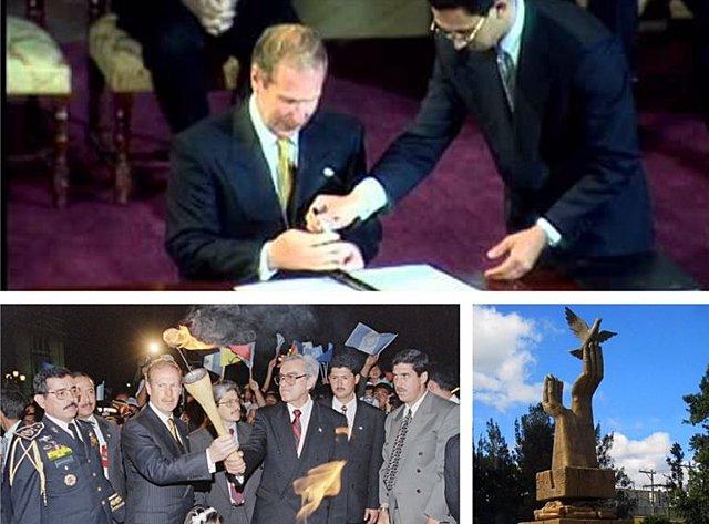 Firma acuerdos de paz