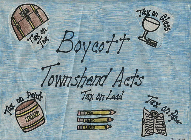 Townshend Acts except for the Tea Act repealed