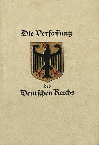 Constitución de Weimar, Alemania