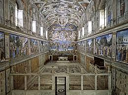 Michelangelo started painting the Sistine Chapel