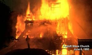 Incendie de la Stavkirke de Fantoft (église en bois debout)