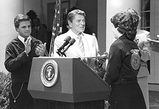 1988 - President Ronald Reagan speaks at the National FFA Convention via a prerecorded message.