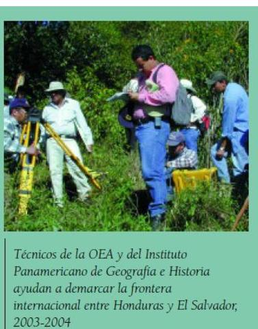 Asistencia técnica a demarcación de frontera entre el Salvador y Honduras