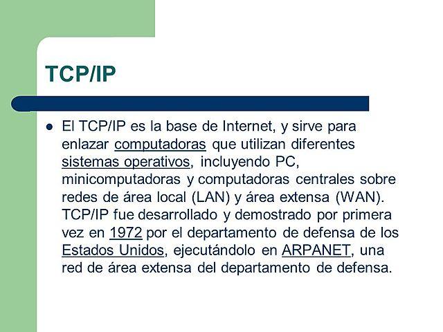 Se desarrolla el protocolo de Internet TCP/IP 4ªG.