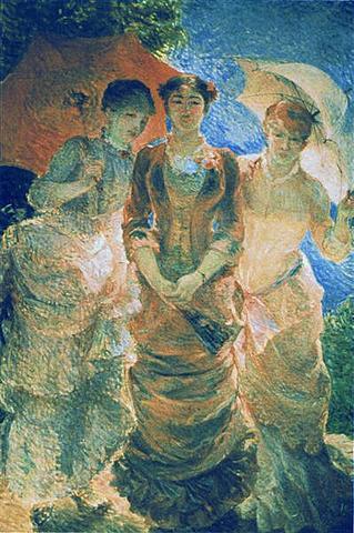 Three ladies with parasol (aka Three Graces)
