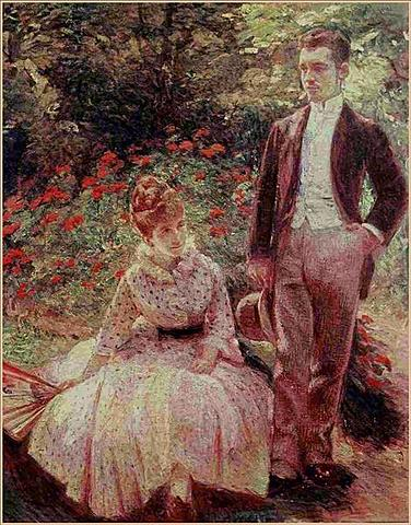 The Artist's Son and Sister in the Garden at Sevres