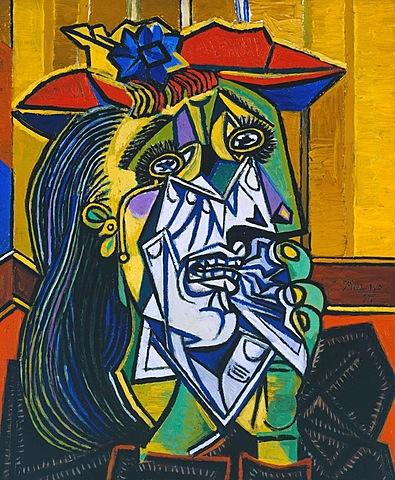 """Prof - Le dessin: expression d'une intériorité / Pablo Picasso - """"Femme qui pleure"""" (huile sur toile, 60 x 50 cm, Tate Modern, Londres, Cubisme)"""