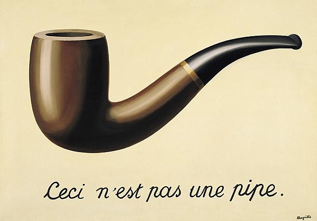 """Prof - Le rapport au réel: mimêsis, ressemblance, vraisemblance / René Magritte - """"La Trahison des images"""" (huile sur toile, 59 × 65 cm ; Los Angeles County Museum of Art)"""