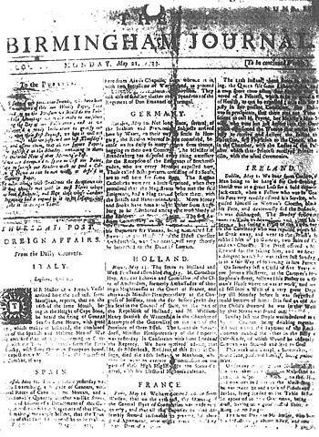Birmingham Journal (eighteenth century)