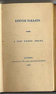 William Wordsworth and Samuel Taylor Coleridge - Lyrical Ballads