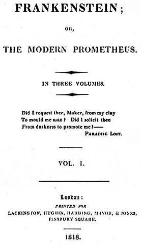 Mary Shellwy - Frankenstein; or, The Modern Prometheus