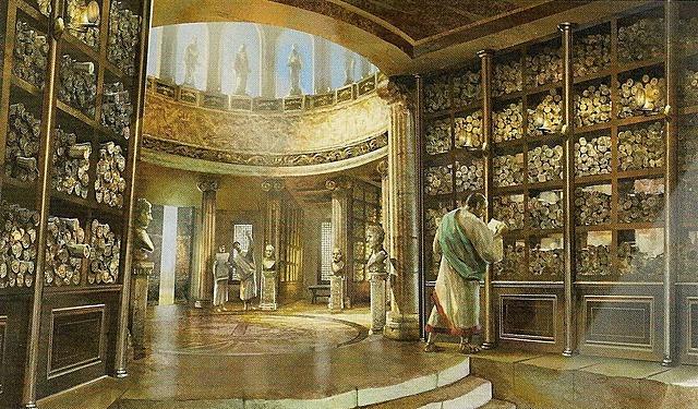 Aparece la biblioteca en Alejandría