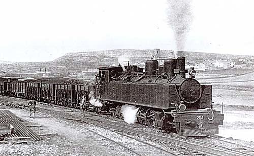 Aparece el ferrocarril