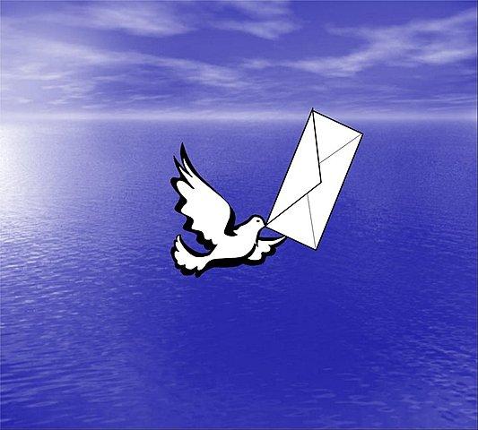 Mensajería por medio de palomas