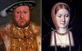 Henry VIII separates from church of England