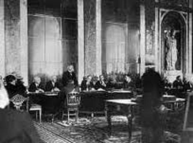 Firma del Tratado de Versalles