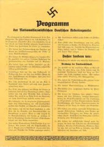 25 Puntos del NSDAP