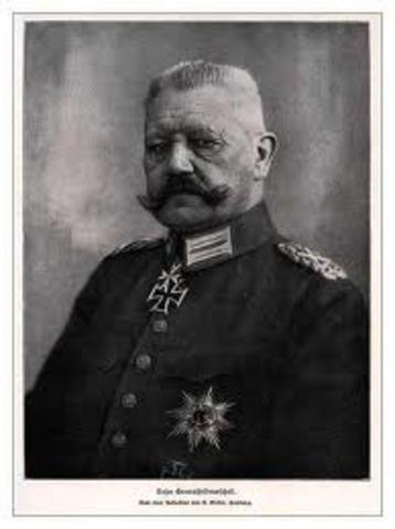 Paul von Hindenburg, presidente de la República