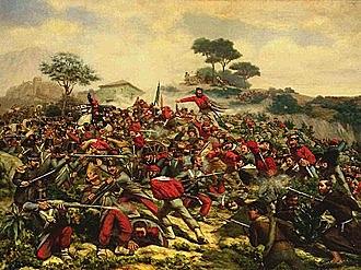 Garibaldi entra vittorioso a Napoli